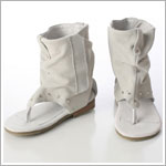Z: L'Amour CREAM Greek Slouch Suede Ankle Sandal