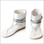 Z: L'Amour SILVER Belted Sandal with Bling