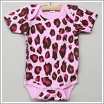 Laughing Giraffe Pink Leopard Short Sleeve Bodysuit