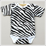 Laughing Giraffe White Zebra Short Sleeve Bodysuit