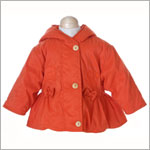 : Les Bebes de Floriane Orange Hooded Jacket