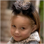 ~ Blooming Bows Leopard Marabou Headband