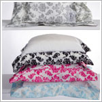 Z: Little Giraffe Luxe Brocade Satin Pillow *More Colors!*
