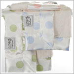 Z: Little Giraffe Luxe Cream Dot Blanky *More Colors!*