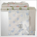 Z: Little Giraffe Luxe Cream Dot Blanket *More Colors!*