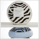 Z: Little Giraffe Luxe Safari Zebra Tooth Fairy Circle Pillow *More Colors!*