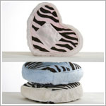 Z: Little Giraffe Luxe Safari Zebra Tooth Fairy Heart Pillow *More Colors!*