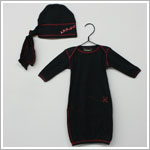 Lollybean Black Pirate Bunting & Hat Set