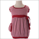 Luna Luna Red S/S Striped Hampton Dress w/ Pocket
