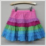 Mimi & Maggie Paint Box Multi Color Layer Skirt
