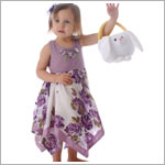 Mimi & Maggie Lavender Cameo Rose Kercheif Tank Dress