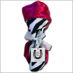 Z: Max Daniel *BLACK/WHITE/HOT PINK ZEBRA* Security Blanket - 17x17