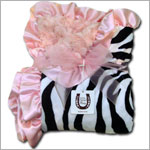 Z: Max Daniel *LIGHT PINK/BLACK/WHITE ZEBRA* Baby Blanket - 36x32