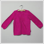 X: Me Too Fuchsia L/S Smocked Shirt