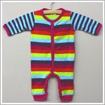 X: Me Too Girls Multi Stripe Snap Front Romper