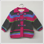 x: Me Too Multi Striped Cardigan *LINED*