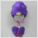 Me Too Purple/Pink Trapper Hat and Mitten Set *SUPER SOFT & WARM*