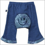 Japanese Monkey Pants Blue w/ Blue Camo & Smiley Face