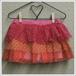 Mulberribush Multi Colored Tiered Heart Tulle Skort