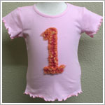 Mulberribush Pink Ruffle Tee with Tulle Number