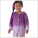 Mulberribush Purple Dip Dye Hooded Cardigan