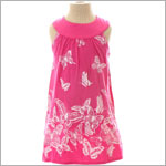 Mulberribush Hot Pink Yoke Collar Butterfly Dress