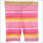 Mulberribush Pink/Orange Stripe Capri Leggings
