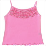 Mulberribush Light Pink Tank Top w/ Ruffles
