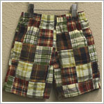 Mulberribush Green/Brown Plaid Shorts