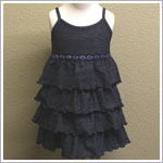 Mulberribush Denim Strappy Tiered Dress