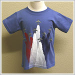 Mulberribush S/S Captain Blue Patriotic Plane Tee