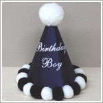 *Birthday Boy* Navy Blue Party Hat