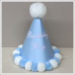 *Birthday Boy* Light Blue Party Hat