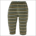 II: Pepper Toes Zebra Life Olive Velour Striped Pant