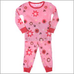 Petit Lem Pink Flowers 2pc L/S Jammies
