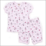 Petit Lem Pink *Around The World Ballerinas* Pajama Short Set