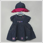 Petit Lem *Lollipop* Blue Denim Dress With Hat