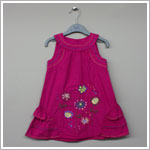 Petit Lem *Lollipop* Fuchsia Sleeveless Ruffle Dress