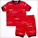 Petit Lem Red *Sharks* Pajama Short Set