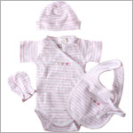 Petit Lem 4pc Light Pink/White S/S Bodysuit Gift Set *In Gift Box!*