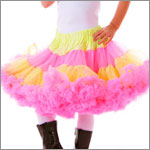 HOT PINK BRIGHT sherbet PETTISKIRT