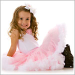 PRECIOUS PASTEL Light Pink/White Pettiskirt