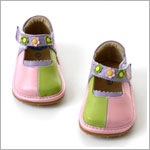 II: Rainbow Steps LIME-TRI Leather Shoe *SQUEAKS*