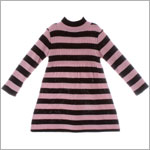 Plum Pudding Brown/Pink Striped Sweater Dress