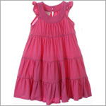 Plum Pudding Peony Pink Tiered Dress