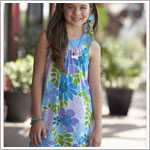 Plum Pudding *Pink Ginger* Purple/Blue/Green Floral Print Sleeveless Dress