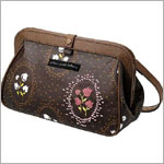 Z: Petunia Pickle Bottom Cross Town Clutch - Afternoon in Aberdeen