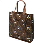 Z: Petunia Pickle Bottom Reusable Shopper Tote - Afternoon in Aberdeen