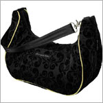Z: Petunia Pickle Bottom *Chenille* Touring Tote - Black Currant