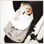 Z: Petunia Pickle Bottom *Chenille* Stroller Bunting Bag - Earl Grey